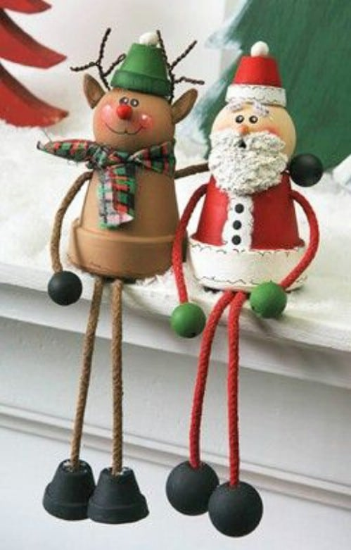 Santa And Rudolph Shelf Sitters