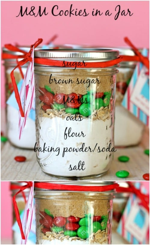 M&M Cookies In A Jar Mix