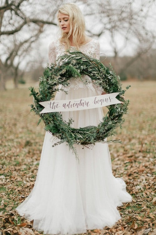 Gorgeous DIY Winter Wedding Wreath