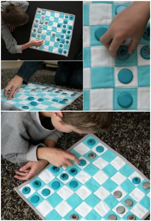DIY Quilted Chess Set For Kids