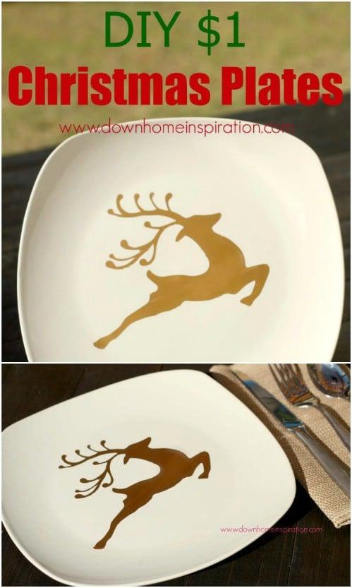 Cheap $1 Decorative Christmas Plates