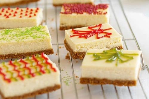 Homemade Christmas Cheesecake Presents