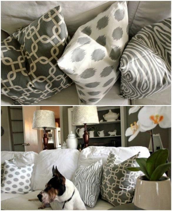 Easy 10 Minute Pillow Slipcover