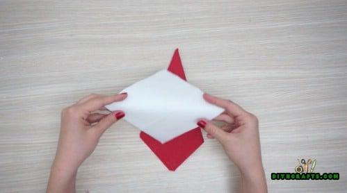 Santa Napkin - 5 Festive DIY Christmas Napkin Designs With Simple Video Instructions