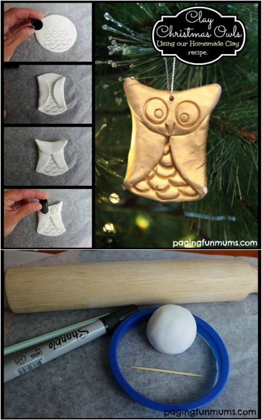 DIY Clay Christmas Owls