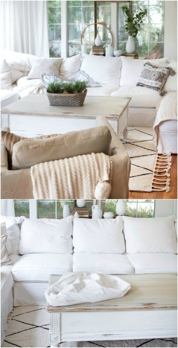 20 Easy To Make Diy Slipcovers That Add New Style To Old Furniture Diy Crafts