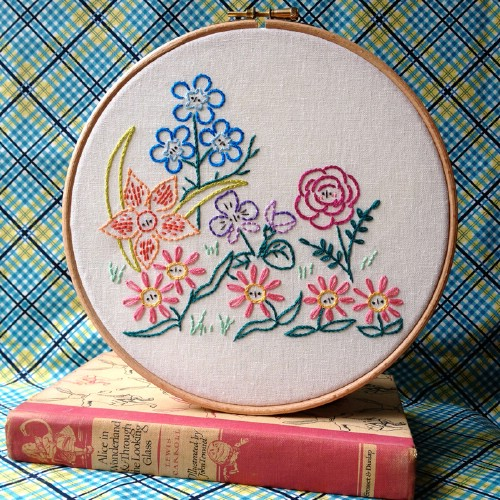 Easy DIY Garden Sampler Embroidery Pattern