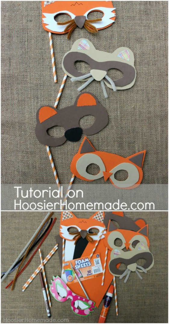 DIY Woodland Creatures Masks