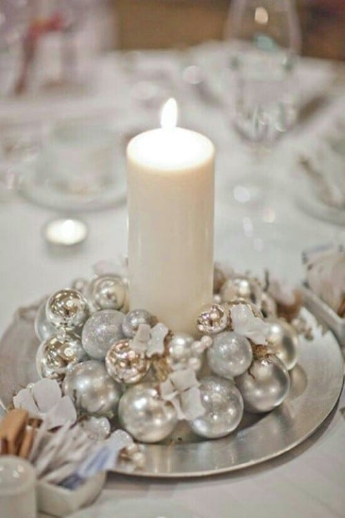 Winter Wedding Ornamental Centerpiece