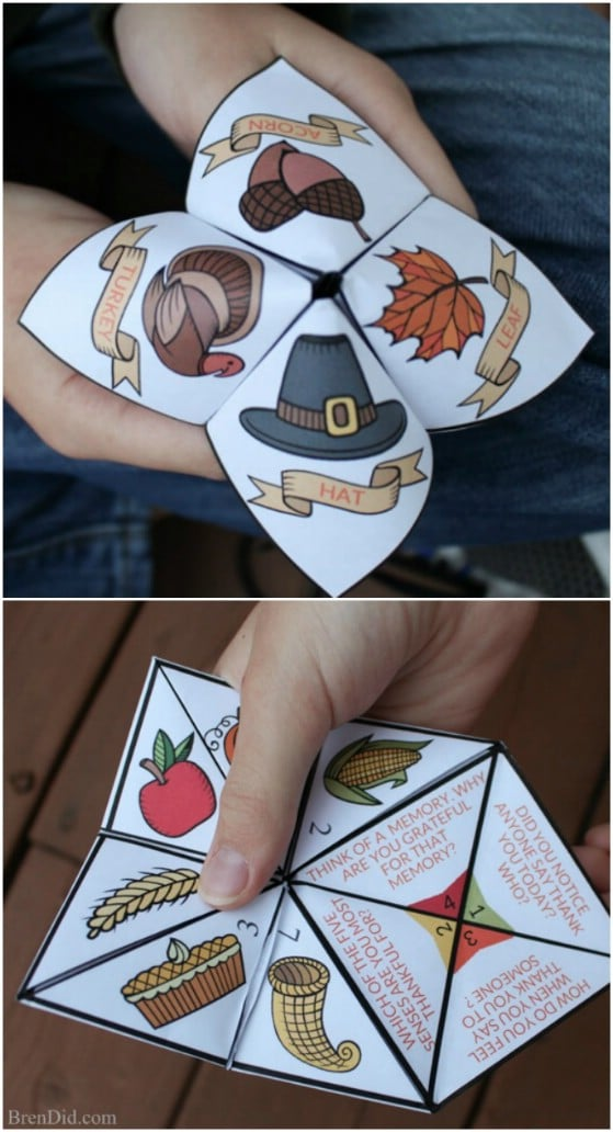 Cute DIY Thanksgiving Cootie Catcher