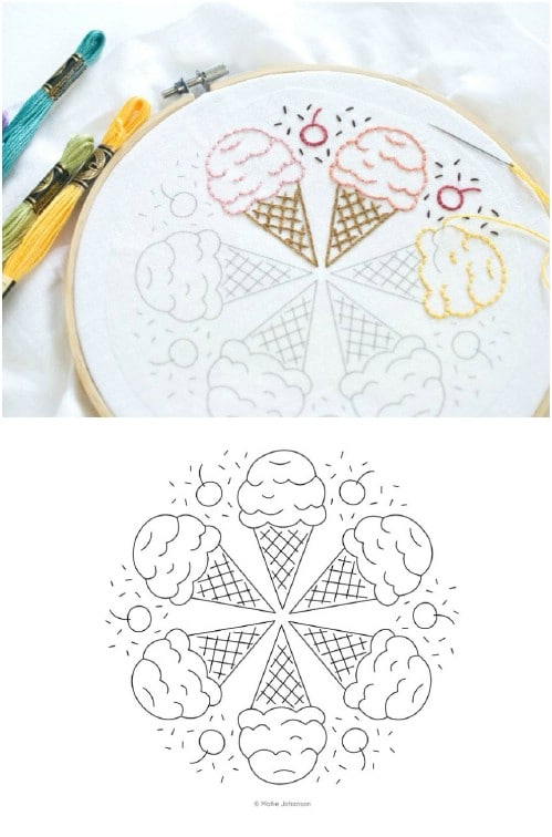 Ice Cream Cone Mandala Sampler
