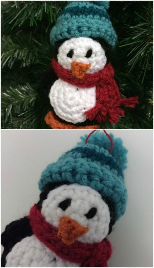Easy Crochet Penguin Ornaments