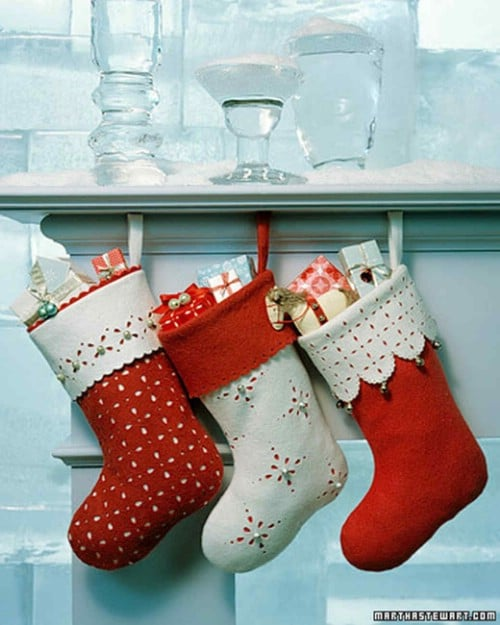 Homemade Jingle Bell Stockings