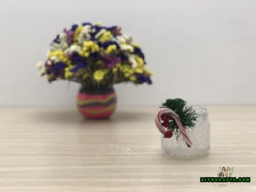 Lace Christmas Jar