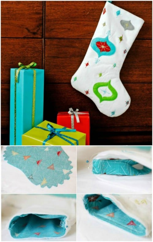 DIY Retro Christmas Stockings