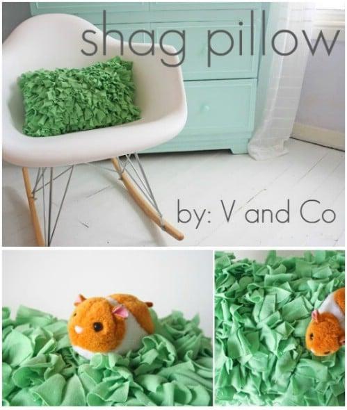 DIY Shag Accent Pillow