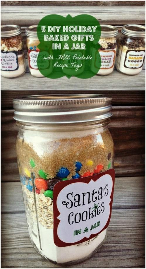 Santa Cookies In A Jar Mix