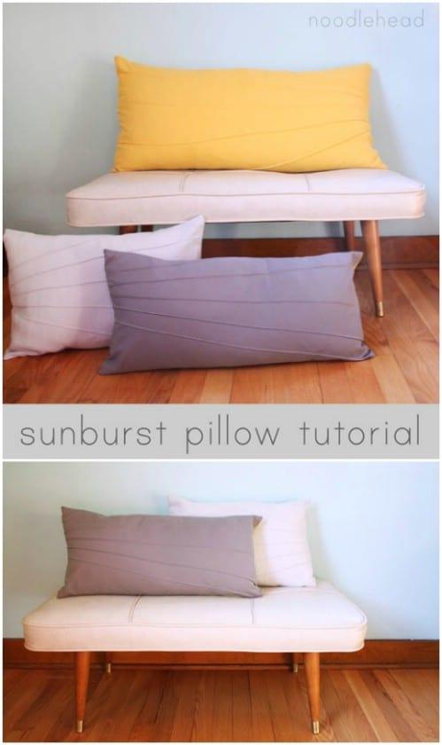 Easy DIY Sunburst Pillow