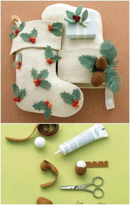 35 Easy Diy Christmas Stockings You Can Make In A Jiffy