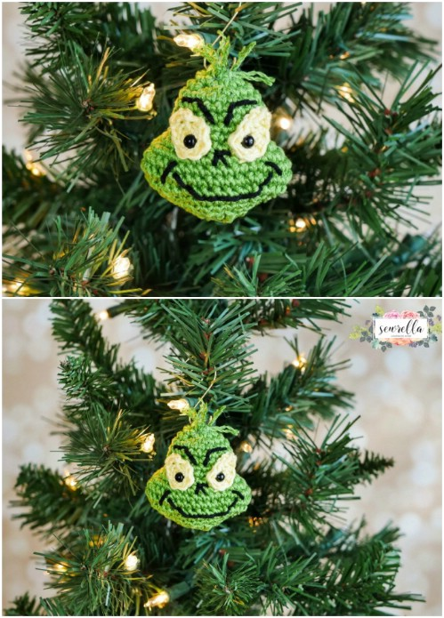 The Grinch Christmas Tree Decorations.30 Easy Crochet Christmas Ornaments To Decorate Your Tree