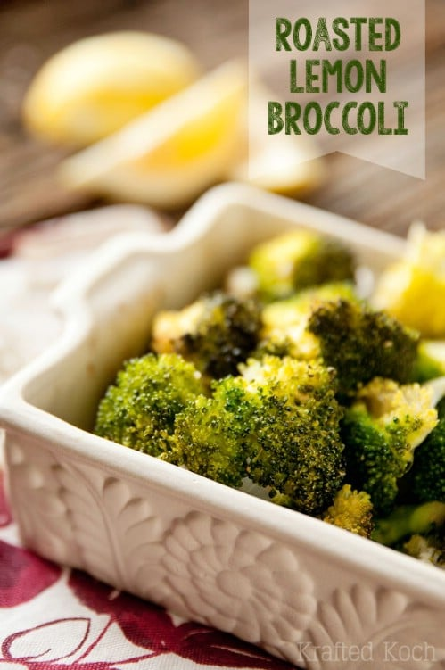 Roasted Lemon Broccoli