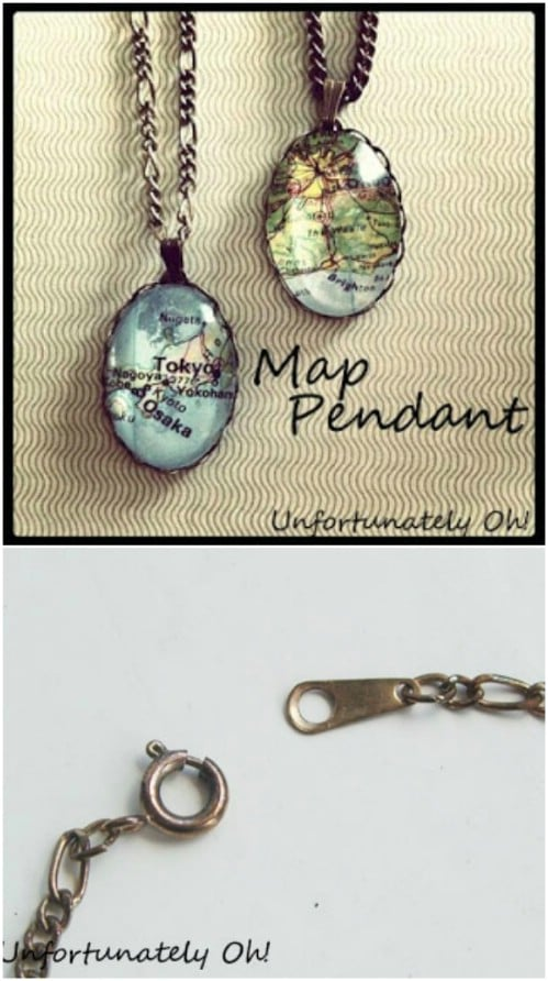 Easy DIY Map Pendants
