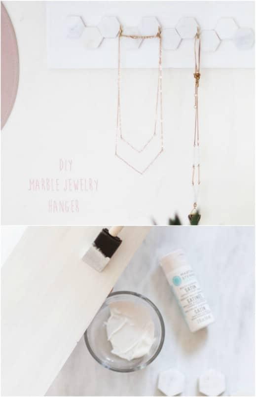 Repurposed Tile Jewelry Hanger
