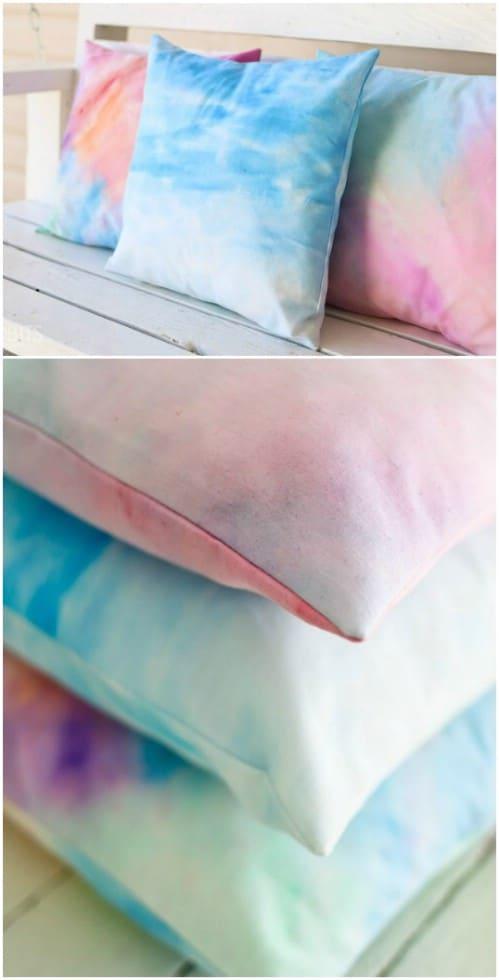 Easy DIY Watercolor Pillows