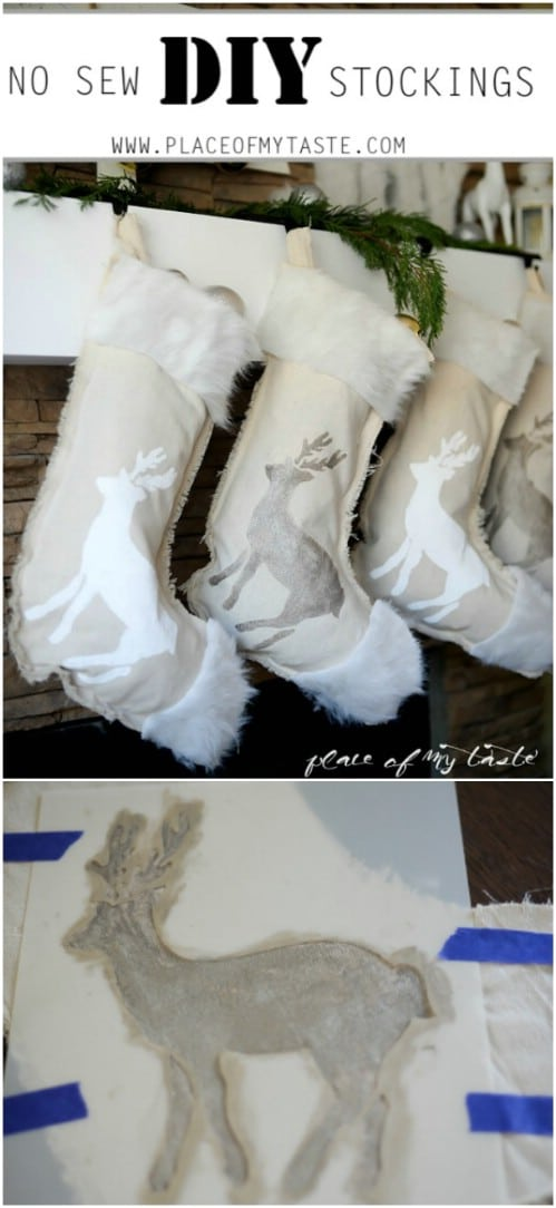 DIY Stenciled Stockings