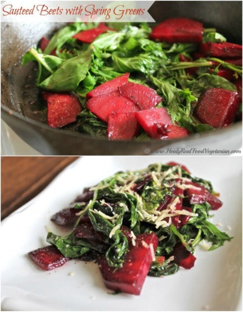 Sautéed Beets And Greens
