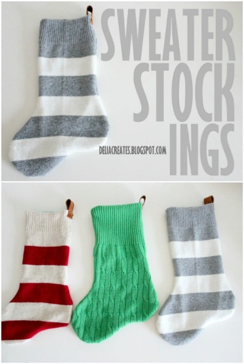 Upcycled Sweater Stockings
