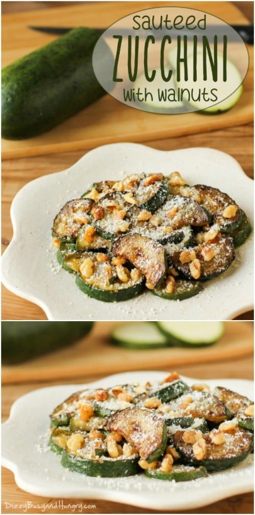 Sauteed Zucchini With Walnuts