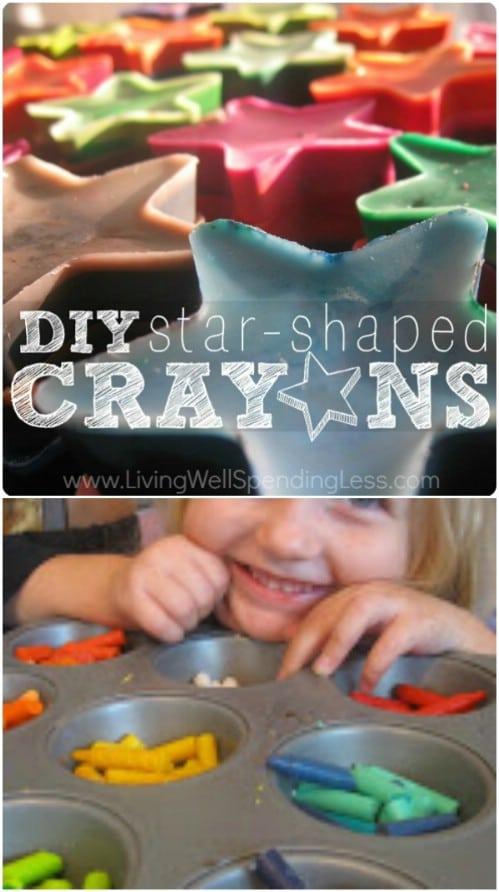 DIY Star Shaped Crayons