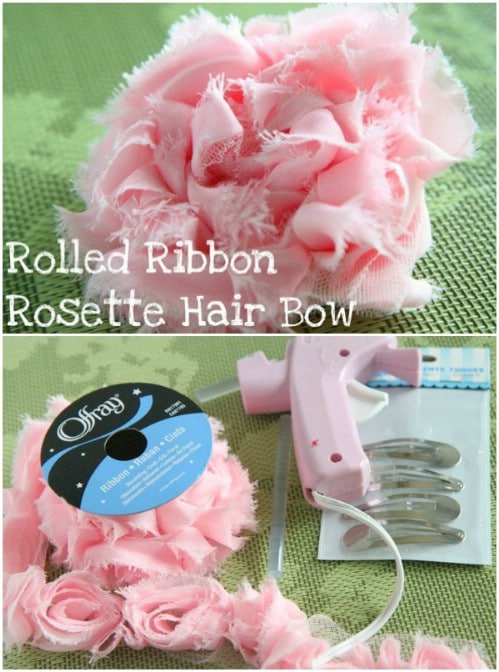 Rolled Ribbon Hair Barrettes
