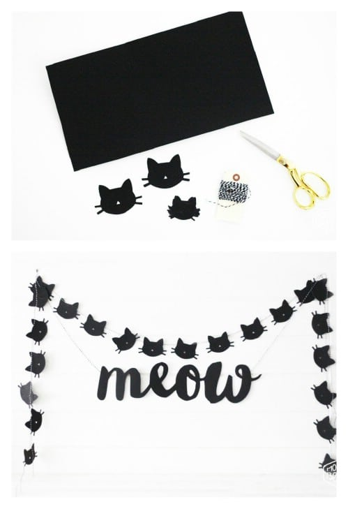 Easy DIY Black Cat Garland