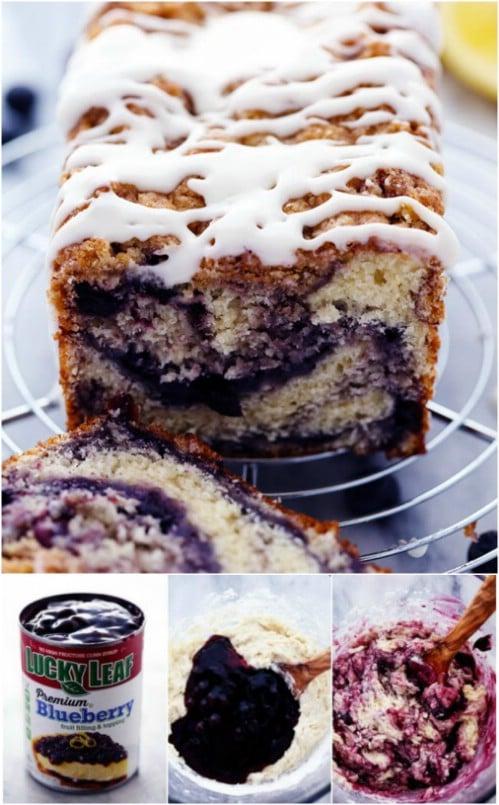 Homemade Blueberry Pie Muffin Bread