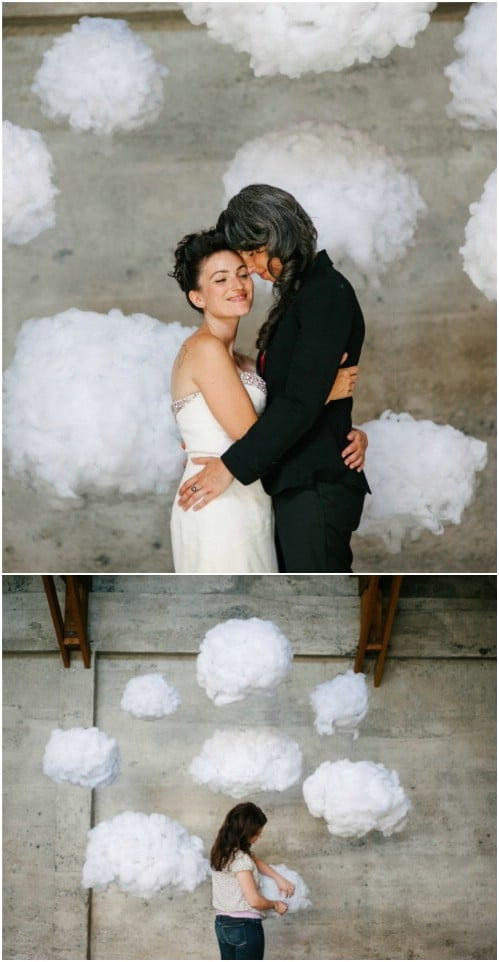Easy DIY Cloud Backdrop