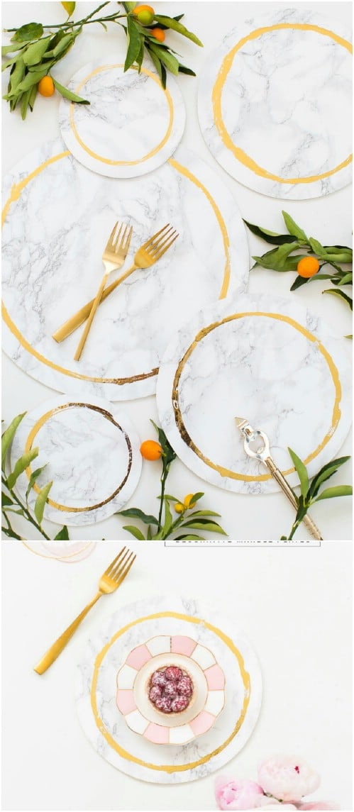 DIY Decorative Marble Plates