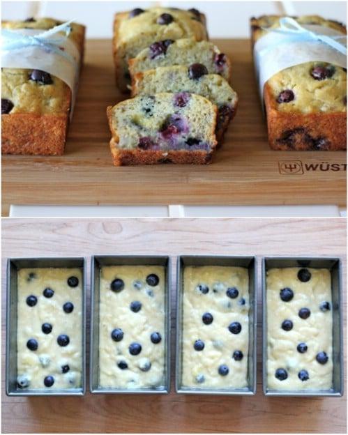 Buttermilk Banana Blueberry Bread