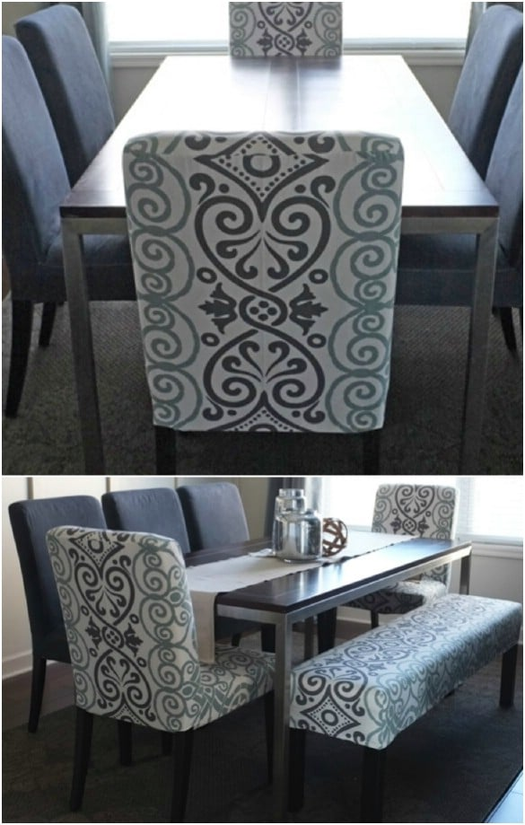 Swell 20 Easy To Make Diy Slipcovers That Add New Style To Old Lamtechconsult Wood Chair Design Ideas Lamtechconsultcom