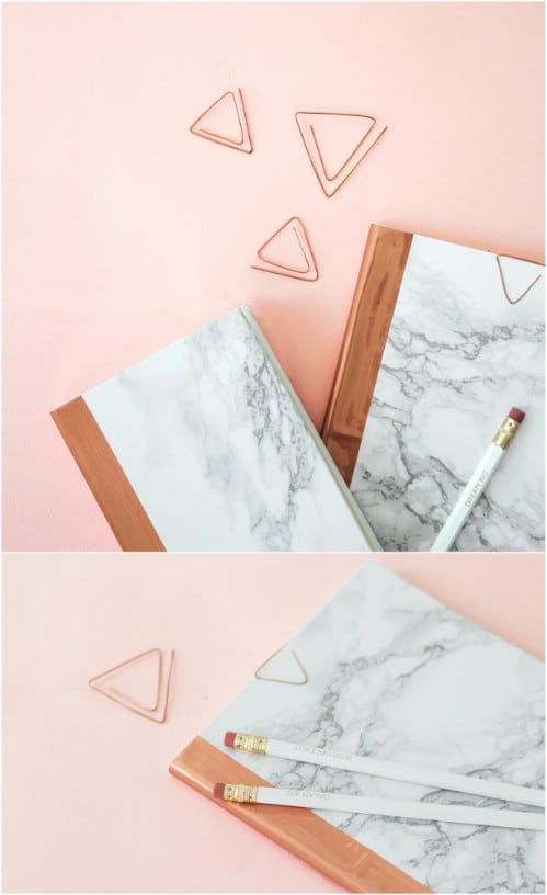 DIY Copper And Marble Notebook