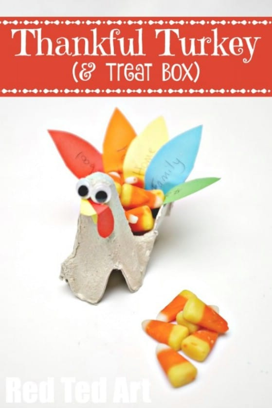 DIY Egg Carton Turkey