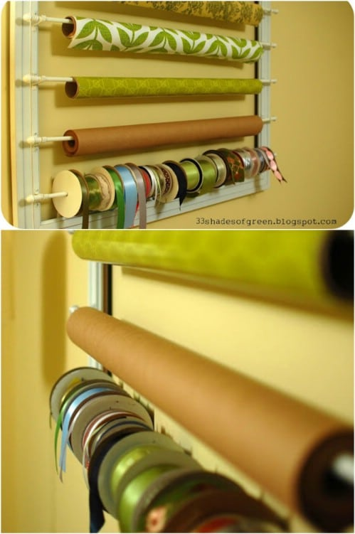 DIY Decorative Wrapping Paper Rack