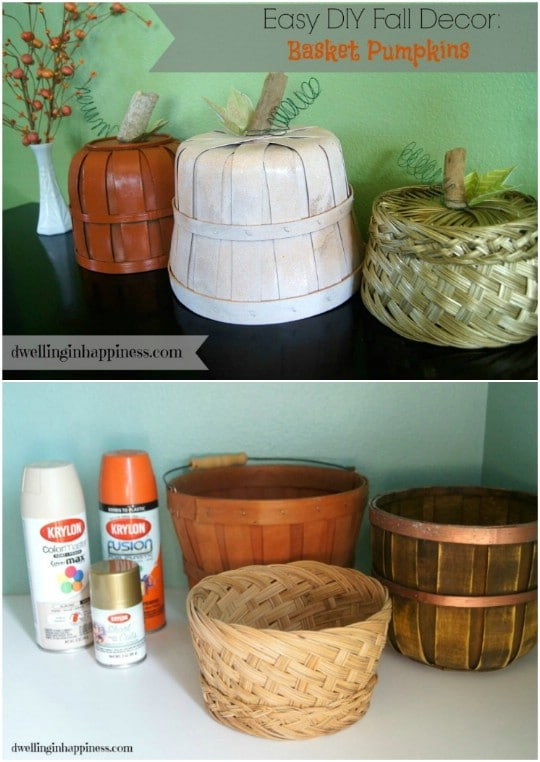 DIY Basket Pumpkins