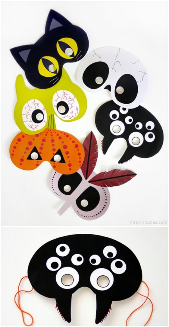 Creatures Of The Night Printable Masks
