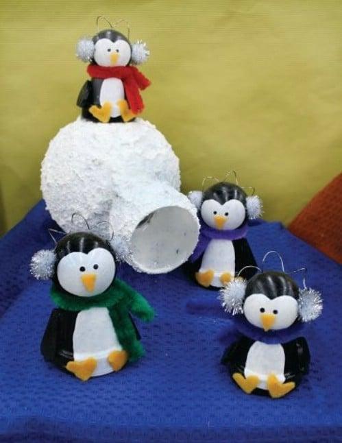 Cute DIY Terra Cotta Pot Penguins