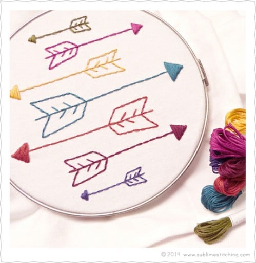 Easy Arrow Embroidery Pattern