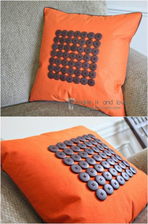 DIY Button Pillow