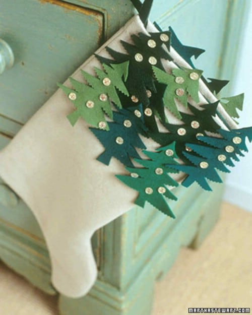 DIY Christmas Tree Stockings