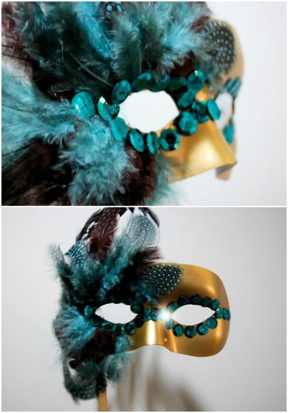 DIY Feathered Masquerade Mask
